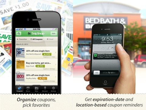 SnipSnap Coupon iPhone app review