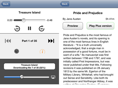 Audiobooks Premium iPhone app review