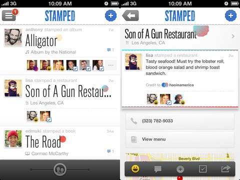 Stamped iPhone app review