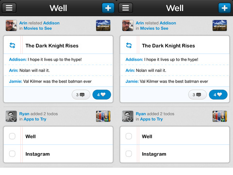 well iphone app