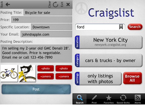 craigslist app for iphone craigslist mobile ultimate for iphone iphone app review 5477