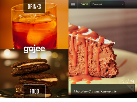 gojee food drinks recipes iphone app