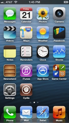 iPhone 5 Jailbreak with Cydia