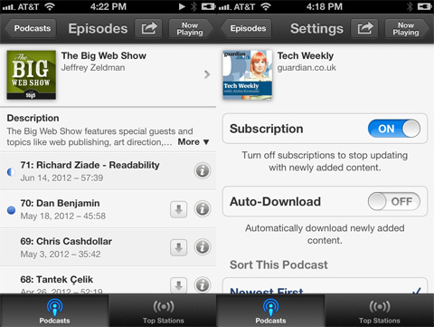 Podcasts app review - Subscriptions