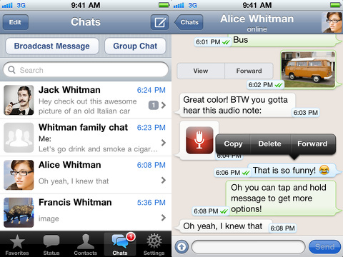 WhatsApp Messenger iPhone app review