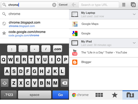 Chrome iPhone app review