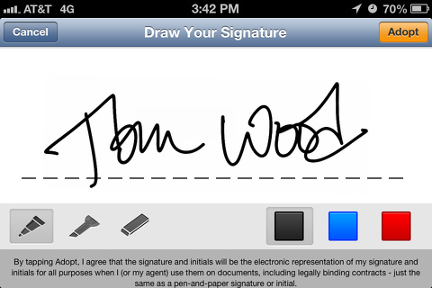 docusign-ink iphone and ipad app