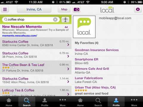 localcom iphone app