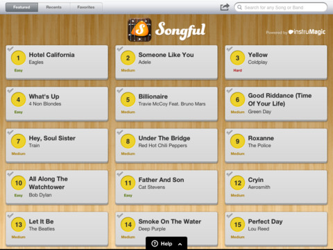 Songful iPad app review
