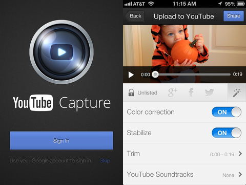 youtube capture iphone app review