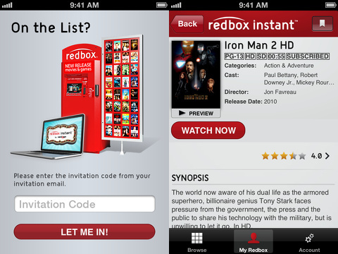 redbox instant by verizon movie iphone app review