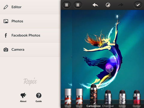 repix remix paint photos iphone app review