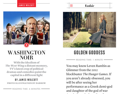 vanity fair digital edition iphone app review
