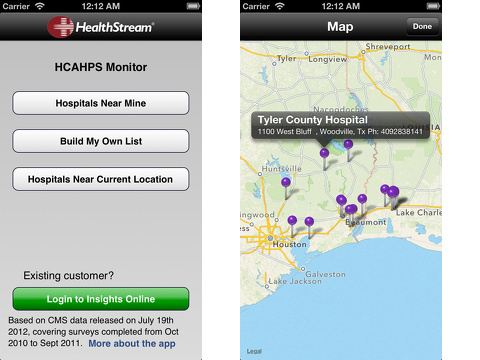 HealthStream HCAHPS Monitor iPhone app review
