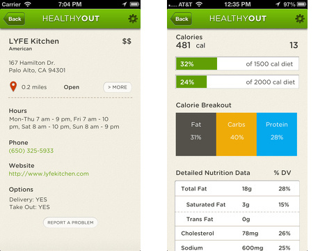 healthyout iphone app review