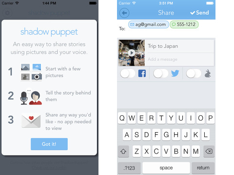 shadow puppet iphone app review