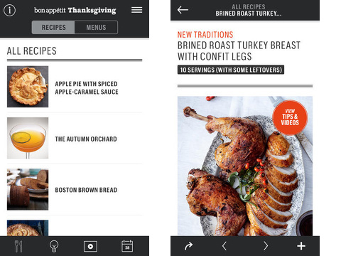 thanksgivingba bon appetit manual iPhone app review