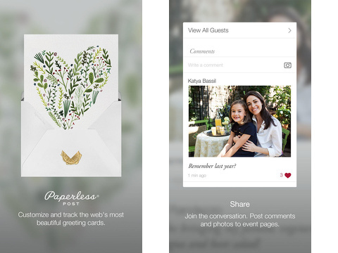 paperless post invitations greetings iphone app review